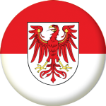 Brandenburg State Flag 25mm Pin Button Badge
